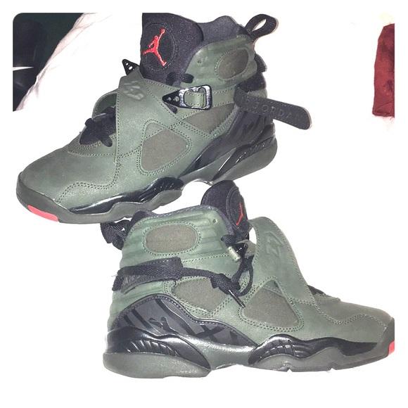 Shoes   Olive Green Air Jordan 8s